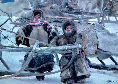 Nenets children on the Yamal Peninsula
